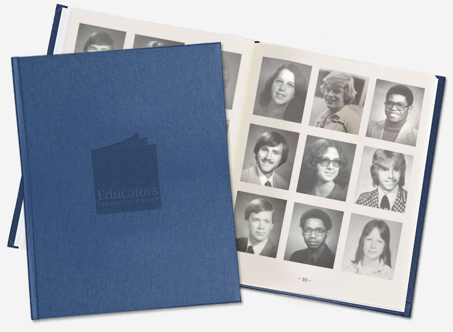 Photo of yearbook