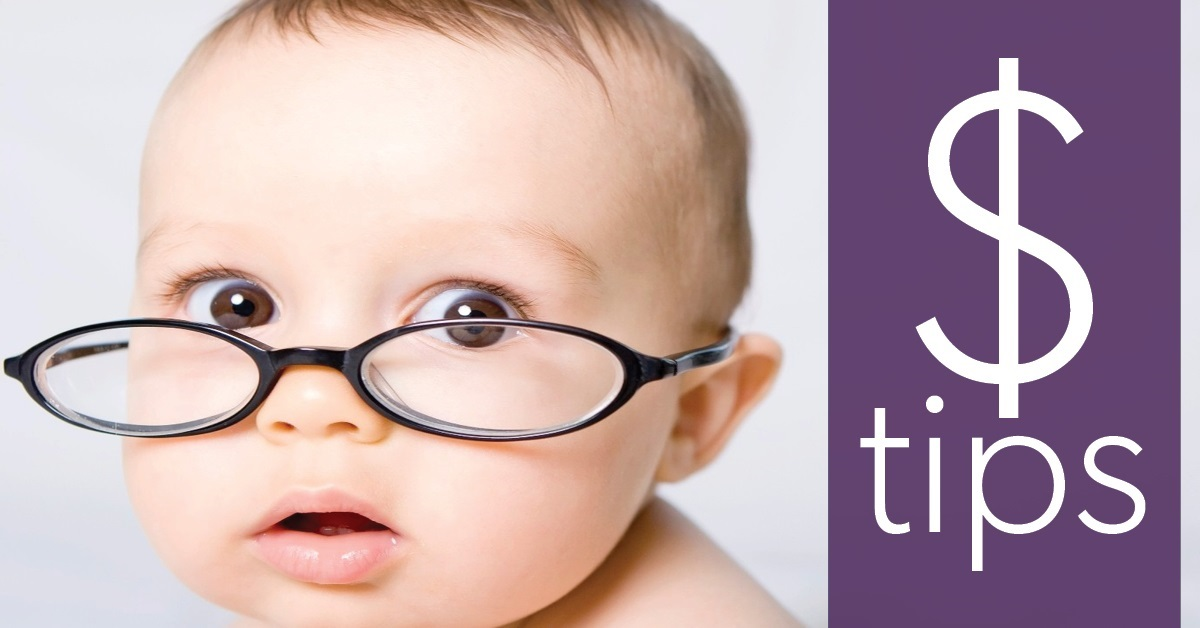 Baby with glasses - Educators Financial Group