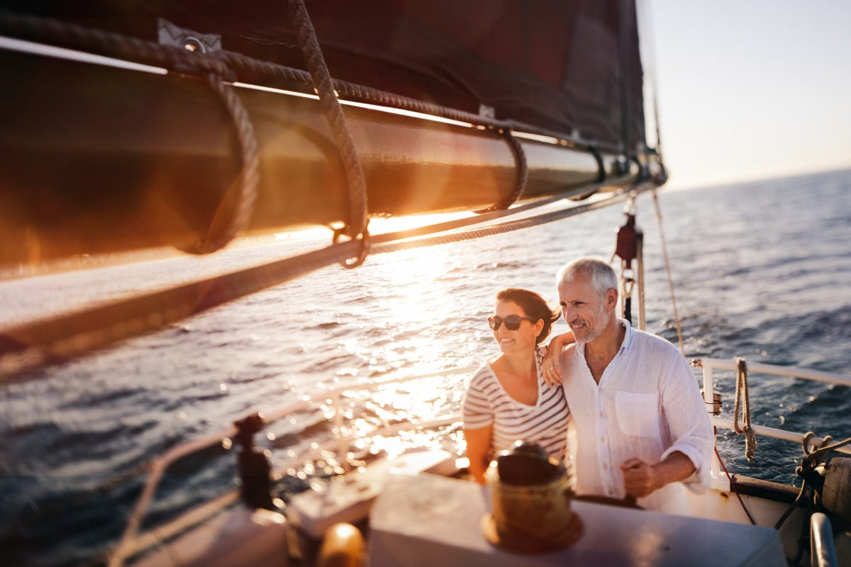 Senior-couple-on-yacht