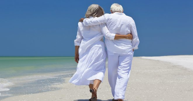 Older man and woman in white - Educators Financial Group