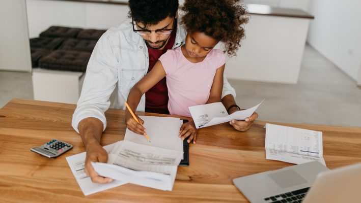 father-daughter-bills-debt